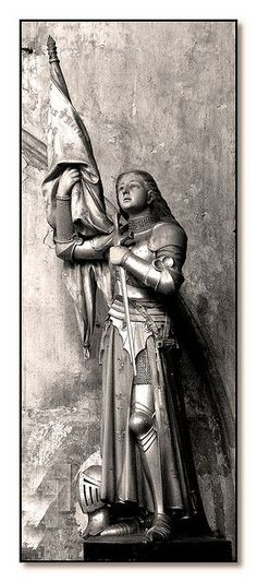 Jeanne D'Arc Statue -- an early heroine of mine.  I sat in an Indianapolis library and sobbed over her fate. The librarian had to come over and ask me to cry more quietly.  Lol.