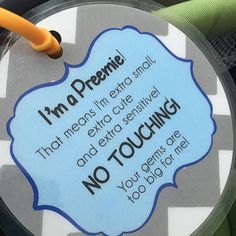 Im A Preemie Boy Original Tag - Baby Car Seats Newborn -Ideas of Baby Car Seats Newborn - Boy Preemie newborn baby car seat tag baby shower by TagsforTots Protect your little one by attaching this sign to your stroller car seat or your baby carrier! Preemie Babies, Premature Baby, Preemies, Baby Needs, Baby Love, Preemie Quotes, Baby Quotes, Son Quotes, Sister Quotes