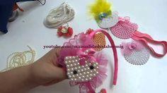 carita de Hello kitty elaborada en fieltro y perlas para decorar accesor...