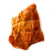 Tasso -This super-smoky Cajun ham is seasoned with cayenne pepper, garlic, and salt. Small pieces of it are used as a seasoning for beans, jambalaya, vegetables, and other dishes.
