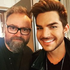 Talked with adamlambert on the radio this morning. Very nice guy. And good looking.