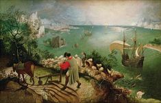 Landscape with the Fall of Icarus, 1560 - Pieter Bruegel the Elder