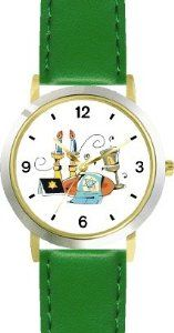 Buy Shabbos or Sabbath Table Symbols No.1 Judaica Jewish Theme - WATCHBUDDY® DELUXE TWO-TONE THEME WATCH - Arabic Numbers - Green  Buy online and save - http://greatcompareshop.com/buy-shabbos-or-sabbath-table-symbols-no-1-judaica-jewish-theme-watchbuddy-deluxe-two-tone-theme-watch-arabic-numbers-green-buy-online-and-save