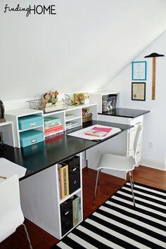 Easy DIY Built In Desk Tutorial!