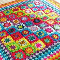 Rainbow granny squares blanket available in my etsy store now http://etsy.me/1Tfvos4 #crochet #crochetblanket #crochetafghan #grannysquaresblanket #grannysquare #grannysquares #crochetaddict #colouraddict #thesunroomuk #crochetersofinstagram #instacrochet #crochetlove #ilovegrannysquares #ilovecrochet #ilovecolour #colourwork #colorfulcrochet #colourfulcrochet #grannytastic #grannymania #etsyshop #etsyseller #etsyshopowner by thesunroomuk