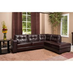 Abbyson Living Livingston Right Hand Facing Sectional