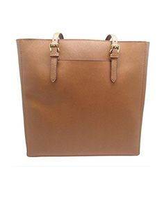 Michael Kors Large Jet Set Travel Saffiano Tote, Luggage Brown Tote Bag -- More info @