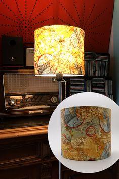 Ein eleganter Lampenschirm, der in jeden Raum gut passen wird. Für Menschen mit Fernweh ;-) Lamp, Decor, Lighting, Shades, Home, Lamp Shade, Home Decor