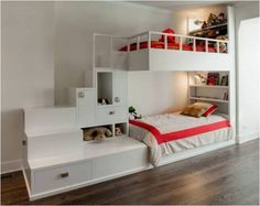 Bunk Beds – Use Free Space To The Maximum - Find Fun Art Projects to Do at Home and Arts and Crafts Ideas
