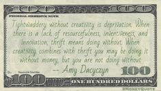 Amy Dacyczyn Money Quote saying it's possible to be creative about how to enjoy things without spending money if resourceful enough