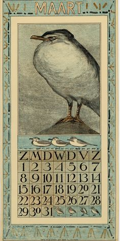 Theodoor van Hoytema, calendar 1908 March