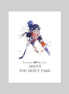 Wayne Gretzky inspired Quote ART PRINT illustration, Ice Hockey, Wall Art, Home Decor, Sport, by SubjectArt on Etsy https://www.etsy.com/listing/268659032/wayne-gretzky-inspired-quote-art-print