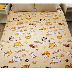 "spreepicky: "" (via [Neko Atsume] Kawaii Neko Cat Coral Fleece Blanket/Bedding SP165083) """