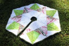 Hexagon quilted tree skirt - etsy