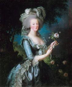 Foto: Maria Antonietta con una rosa è un ritratto di Maria Antonietta, regina di Francia, dipinto da Élisabeth Vigée Le Brun nel 1783.