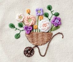 Embroidery Works, Simple Embroidery, Vintage Embroidery, Embroidery Patterns, Jacquard Weave, Sewing Projects, Coin Purse, Felt, Inspiration