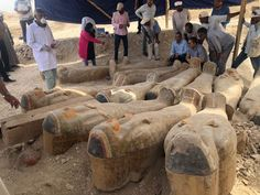 Big News 📰 Details of Coffins Cachette Discovery in Luxor 🇪🇬 Dr. Khaled El-Enany, Minister of Antiquities accompanied by Dr.Mostafa Waziri, Secretary General of the Supreme Council of Antiquities, rushed to Luxor to inspect the newly discov Archaeological Discoveries, Archaeological Finds, Egypt Museum, Valley Of The Kings, Tutankhamun, Ancient Egypt, Ancient Artifacts, Ancient History, Priest