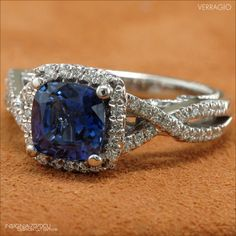 This Insignia-7070CU with its deep-blue Sapphire center creates an elegant and timeless heirloom for generations to come. http://verrag.io/Insignia-7070CU
