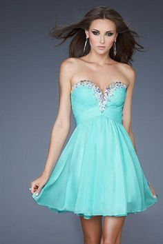 2014 Homecoming Dresses Sweetheart A-Line Short/Mini Chiffon With Beads And Ruffles