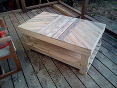 pallet coffee table...LOVE!