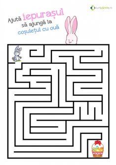 Labirint pentru copii Pasti Maze Worksheet, Worksheets, Preschool Activities, Ideas, Speech Language Therapy, Literacy Centers, Thoughts, Countertops
