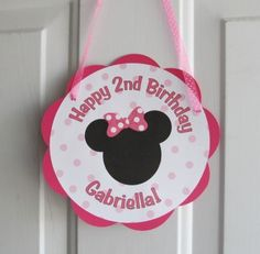 minnie-mouse-birthday-party-welcome sign