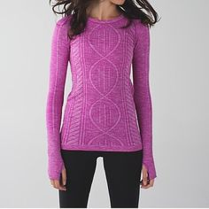 Lululemon Rest Less long sleeve Pullover. Size 6. Lululemon long sleeve pullover. Size 6. Pink color. SOO comfy and warm! Only wore a couple of times. lululemon athletica Tops