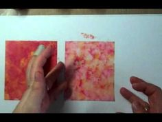 ▶ Vellum & Alcohol Inks - YouTube Emboss with with white powder over the top for a very sweet card plate for the front of a card or book