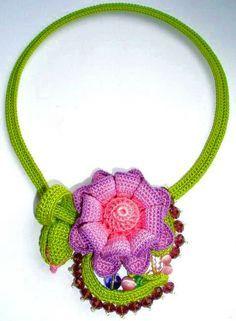 Original crochet jewelry by Tatiana Potemkina   Beads Magic ♡