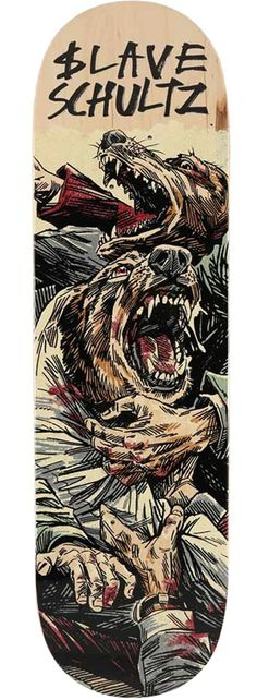 Slave Skateboards Anthony Schultz Dogs Skateboard Deck b