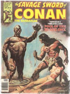 The Savage Sword of Conan the Barbarian. Vol. 1, No. 22. U.S. Comic. Sep. 1977.