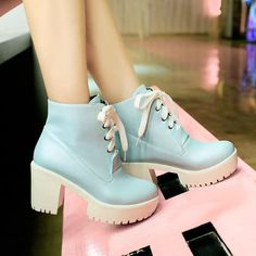 Hair pastel goth shoes for 2019 Sock Shoes, Cute Shoes, Me Too Shoes, Shoe Boots, Shoes Heels, Pumps, Dress Boots, Calf Boots, Combat Boots