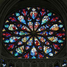 South Transept Rose Window by Walwyn, via Flickr