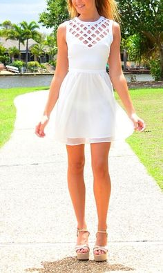 white dresses for graduation