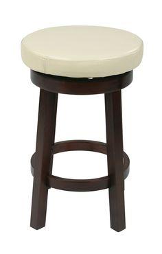 "OSP Designs 24"" Metro Round Barstool in Cream Faux Leather"