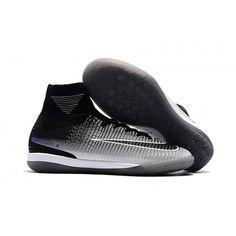 low priced 7a586 0a2e7 Nike Fotballsko For Herre MercurialX Proximo II DF IC Svart Grå Hvit