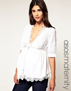 Enlarge ASOS Maternity Exclusive Cotton Tunic with Lace