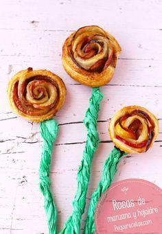 Pequerecetas - Rosas de manzana y hojaldre, ¡deliciosas!