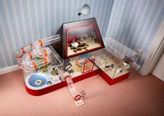The Print Ad titled Sparkasse Construction Financing: Hamster's home was done by Jung Von Matt/Alster Hamburg advertising agency in Germany. It was released in May Hamster Life, Hamster Habitat, Hamster Toys, Hamster Stuff, Hamster Ideas, Pet Stuff, Cool Hamster Cages, Ferret Cage, Pet Cage