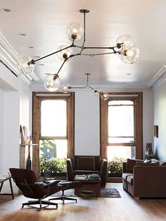 Lindsay Adelman Lighting and Eames Lounge Chair and Ottoman http://emfurn.com/products/emfurn-lounge-chair https://emfurn.com/collections/home-chairs