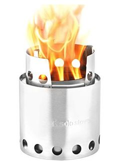 Combustion: The Solo Stove Lite is an ultra compact wood burning backpacking stove. Great for camping and survival, this wood gas stove is built to last. Best Wood Burning Stove, Wood Gas Stove, Wood Stoves, Camping Car, Camping World, Camping Gadgets, Camping Stuff, Camping Crafts, Costco Camping