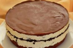 Krémes, tejszínes, csokis túrótorta – Ennél finomabbat rég ettél,recept Hungarian Cake, Hungarian Recipes, Hungarian Food, Ital Food, Dessert Drinks, Cakes And More, Beautiful Cakes, Cheesecake, Food And Drink