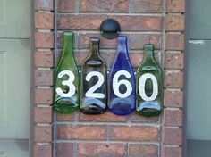 Wine Bottle Crafts Projects | fused glass projects | Fused Bottle Glass House Number Project - Glass ...