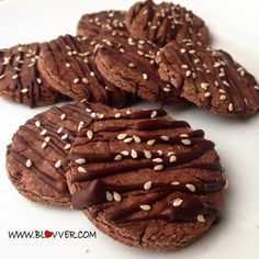 Receta, Galletas de avena y chocolate Apuntes Bonitos ✍️ Cookie Factory, Comidas Fitness, Strawberry Rhubarb Crisp, Brownie Cookies, Chocolate Cookies, Healthy Chocolate, Sin Gluten, Healthy Desserts, Healthy Food