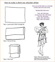 Fold Bed Sheet Into Toga