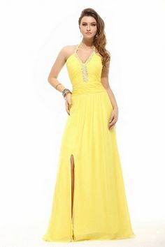 JJsHouse A-Line/Princess Halter Floor-Length Ruffle Beading Split Front Zipper Up Spaghetti Straps Sleeveless Other Colors Summer General Plus Chiffon Holiday Dress. Plus Prom Dresses, Bridesmaid Dresses 2014, Prom Dress 2013, Cheap Evening Dresses, Dresses 2013, Bride Dresses, Gold Color Dresses, Flower Girl Dresses, Holiday Dresses