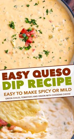 Smooth and silky queso dip made using NO velveeta Packed with flavor yet so easy to make and party ready in just 20 minutes queso dip cheese mexican appetizer party cincodemayo easyrecipe Cheese Dip Mexican, Queso Dip Mexican, Enchiladas, Quesadillas, Sauce Spaghetti, Breakfast Recipes, Dinner Recipes, Flautas, Best Appetizers