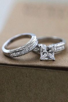 24 Breathtaking Princess Cut Engagement Rings ❤️ princess cut engagement rings wedding set white gold solitaire diamond ❤️ See more: http://www.weddingforward.com/princess-cut-engagement-rings/ #weddingforward #wedding #bride #engagementrings #princesscutengagementrings