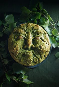 This savory depiction of one of humanity's most ancient archetypes is packed full of the delicious vegetables of early spring. Makes the perfect show-stopping Spring meal! Beltane, Purple Potatoes, Green Man, Spring Recipes, Tray Bakes, Food Photography, Picnic, Stuffed Peppers, Vegetables