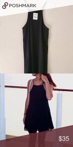 Brandy Melville Black Dress Worn once! Brandy Melville Black Abigail Sleeveless dress. Excellent condition Brandy Melville Dresses